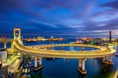 Puente Tokio del arco iris fotografía de archivo libre de regalías