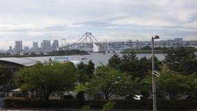 Puente Tokio del arco iris foto de archivo libre de regalías