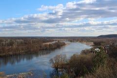 Puente a través del río de Voronezh Fotos de archivo