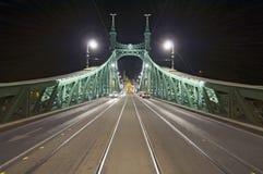 Puente vacío por noche de par en par Imágenes de archivo libres de regalías