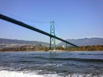 Puente Vancouver de la puerta de los leones, A.C. fotos de archivo libres de regalías