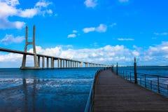 Puente Vasco da Game Fotos de archivo libres de regalías
