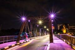Puente viejo ChiangMai Tailandia del hierro imágenes de archivo libres de regalías