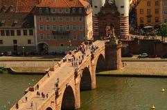 Puente viejo de Heidelberger, verano 2010 Foto de archivo