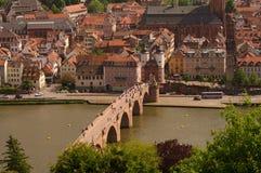 Puente viejo de Heidelberger, verano 2010 Fotografía de archivo libre de regalías