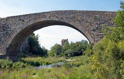 Puente viejo de Lagrasse Imagen de archivo libre de regalías