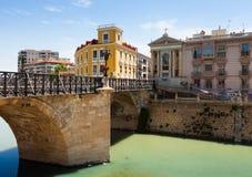 Puente Viejo de los Peligros i Murcia, Spanien Arkivfoton