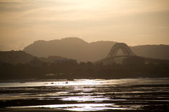 Puente viejo de Panamá - de Las Américas Imagenes de archivo