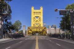 Puente viejo de Sacramento California imágenes de archivo libres de regalías