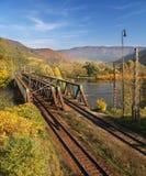 Puente viejo del ferrocarril fotografía de archivo libre de regalías