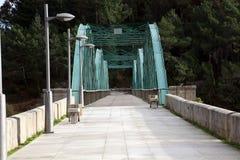 Puente viejo del hierro Imagen de archivo libre de regalías