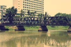 Puente viejo del hierro Fotografía de archivo