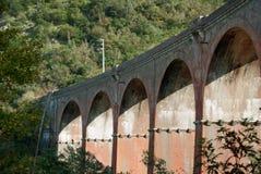 Puente viejo del ladrillo Imagen de archivo libre de regalías