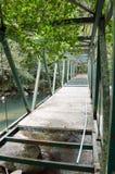 Puente viejo del metal Foto de archivo libre de regalías