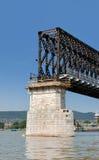 Puente viejo del tren bajo construcción Imagen de archivo