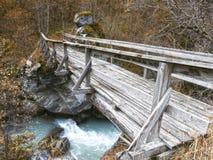 Puente viejo en bosque Imagen de archivo libre de regalías