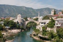 Puente viejo en Mostar Imagen de archivo libre de regalías