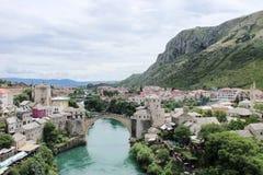 Puente viejo en Mostar, Bosnia y Hercegovina Imagen de archivo libre de regalías