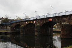 Puente viejo en Sarrebruck Fotos de archivo
