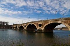 Puente viejo en Toulouse Foto de archivo libre de regalías