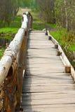 Puente viejo en un bosque del verano Fotos de archivo