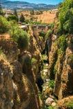 The Puente Viejo - Old Bridge in Ronda, Province Stock Image