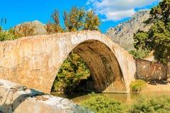 Puente viejo Preveli Fotos de archivo