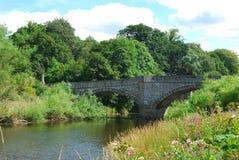 Puente viejo sobre el río Teviot fotografía de archivo