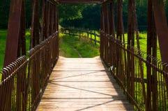 Puente visto del interior Foto de archivo libre de regalías