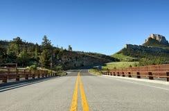 Puente Wyoming de la luz del sol fotos de archivo libres de regalías