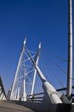 Puente y calzada de suspensión Fotografía de archivo libre de regalías