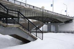 Puente y caminos Foto de archivo libre de regalías