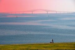 Puente y corredor de la bahía de Chesapeake Fotografía de archivo libre de regalías