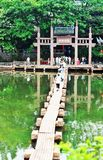 Puente y entrada antiguos Imagen de archivo