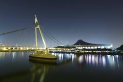 Puente y estadio Fotografía de archivo libre de regalías