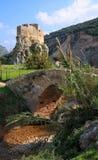 Puente y fortaleza, Líbano de Msailaha Imagen de archivo libre de regalías