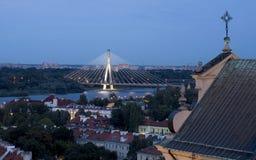 Puente y iglesia Imagen de archivo libre de regalías