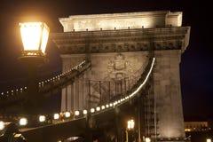 Puente y linterna Imagen de archivo libre de regalías