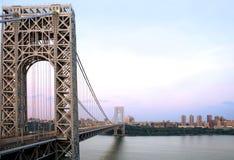 Puente y Manhattan del GW Fotografía de archivo libre de regalías