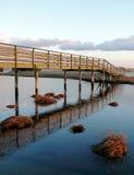 Puente y nubes del bacalao de cabo Imágenes de archivo libres de regalías