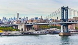 Puente y Nueva York de Manhattan fotos de archivo libres de regalías