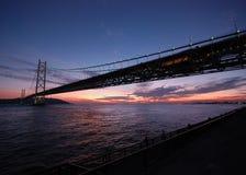 Puente y puesta del sol Imágenes de archivo libres de regalías