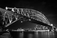 Puente y teatro de la ópera del puerto de Sydney Fotografía de archivo libre de regalías