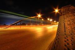 Puente y tráfico Fotografía de archivo