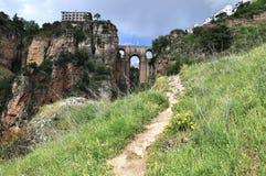 Puenten Nuevo i Ronda, Spanien Arkivbild