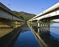 Puentes al horizonte Imagen de archivo libre de regalías