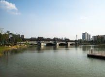 Puentes cubiertos chinos Foto de archivo
