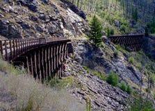 Puentes de caballete Kelowna Canadá foto de archivo