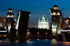 Puentes de las noches blancas Imagenes de archivo