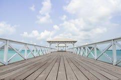puentes de madera hermosos Foto de archivo libre de regalías